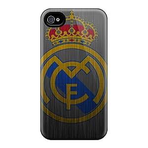 Excellent Hard Phone Case For Iphone 6plus (qUA8219wCsj) Provide Private Custom Nice Real Madrid Metal Logo Pattern