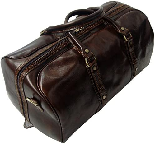 Genuine Italian Leather Holdall Cabin Bag Overnight Weekend Case Duffel Hand Luggage Overnight