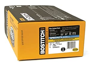 BOSTITCH C6R90BDG 2-by-0.090-Inch Thickcoat Ring Shank by 15-Degree Coil Siding Nail, 3600-Per Box from Bostitch