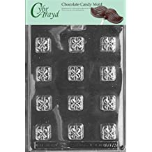 Cybrtrayd AO073 Squares with Bows (Presents) Chocolate Candy Mold with Exclusive Copyrighted Molding Instructions