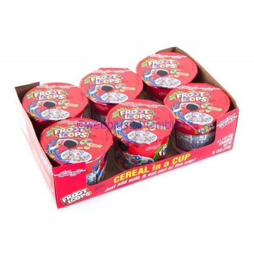 Kellogg's Froot Loops Breakfast Cereal, Single-Serve 1.5Oz Cup, 6 Cups/Box by Kellogg's