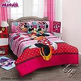 Disney Minnie Love 7 piece Reversible Comforter Set Full