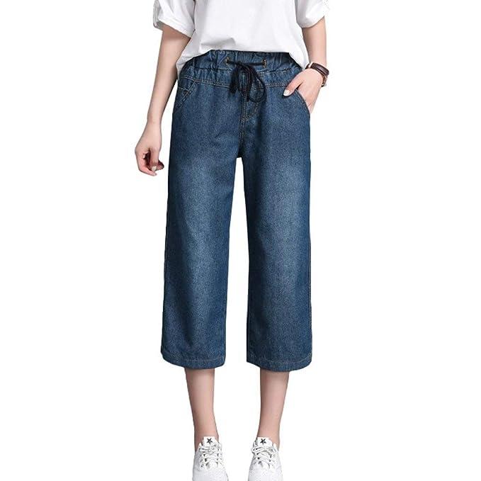Elegante Casual para Mujer De Pierna Y Pantalones Ancha ...