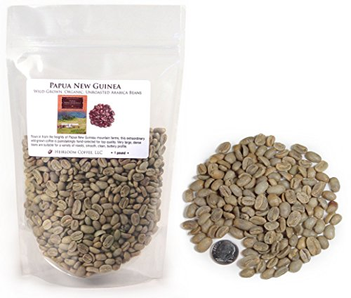 Papua New Guinea Organic Maniacal-grown Unroasted Green Coffee Beans (1 LB)