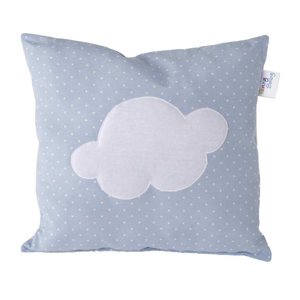dise/ño motas y nube Coj/ín decorativo para cuna 35 x 35 cm color azul Funny Baby 623052
