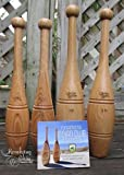 Indian Clubs Introduction Set - Two 1lb & Two 2lb Oak Clubs with Training DVD