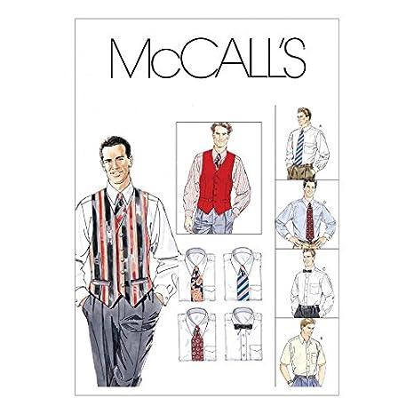Patrón de costura de los hombres McCalls 2447 camisas, chaleco ...