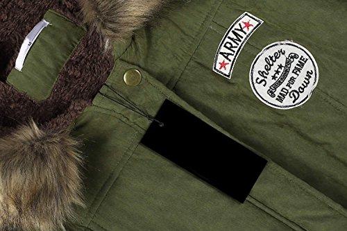 Manteau Compressible ANGVNS Capuche Fourrure Chaude Hiver Arm Femmes Epaissir avec dn8B8wTqCW