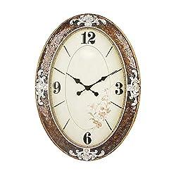 Imoerjia Regal Antique Wall Clock Standard Wall Table Mute Resin Personalized Creative Quartz Clock Oval Clock Wall Clock