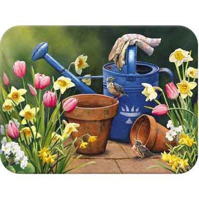 Tuftop McGowan Spring Garden Cutting Board, Multicolor (Spring Tuftop)