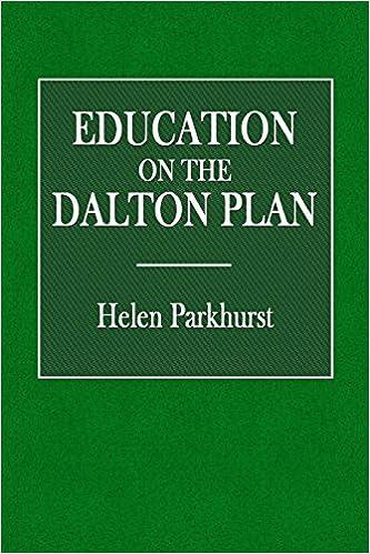 Book Education on the Dalton Plan