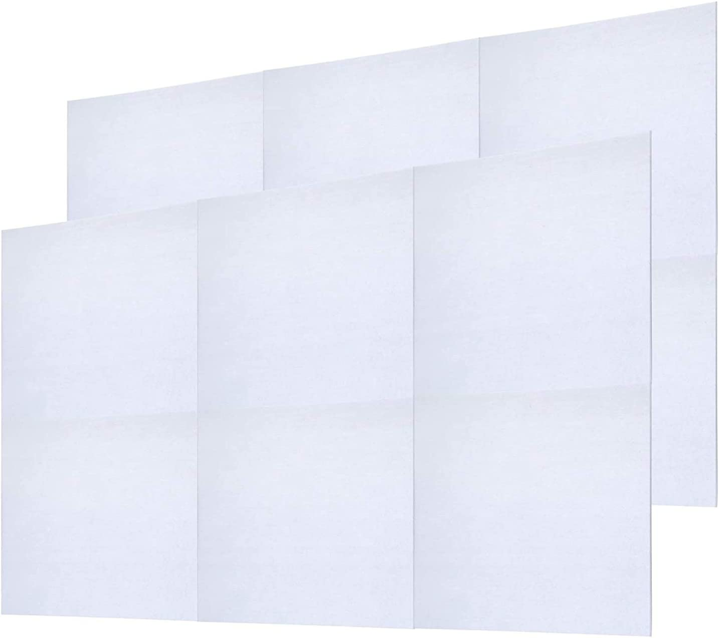 12 Pack Set Acoustic Absorption Panel, 12 X 12 X 0.4 Inches White Acoustic Soundproofing Insulation Panel Tiles, Acoustic Treatment Used in Home & Offices