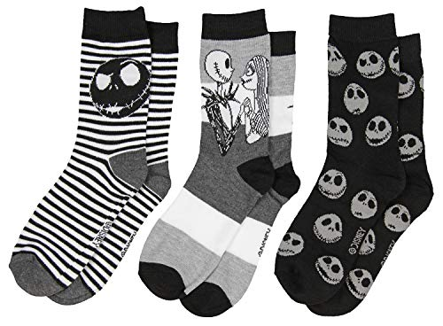 (The Nightmare Before Christmas Women's 3 Pack Socks Gift Boxed (9-11 Womens (Shoe: 4-10), Gift Boxed 3 Pack))