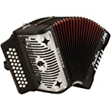 Hohner Panther G/C/F 3-Row Diatonic Accordion - Black