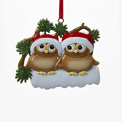 Kurt Adler Christmas Owl Family of 2 Ornament