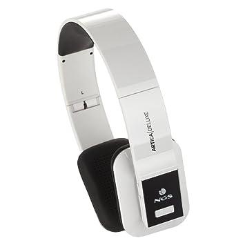 NGS blanco Artica Deluxe - Auriculares de diadema abiertos Bluetooth (con micrófono, control remoto integrado), blanco: Amazon.es: Electrónica