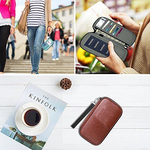 Family Passport Holder, Fintie RFID Blocking Zipper Case Document Organizer, Love Tree by Fintie (Image #7)'
