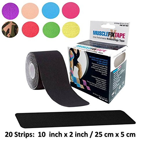 Black Kinsiology Rock Tape Roll | kinesio-Tapes rocktape rocktapes KT | Edema Limbs ACL meralgia paresthetica patellofemoral Cerebral Palsy degenerative Cervical Disorders Whiplash Oral Motor ()