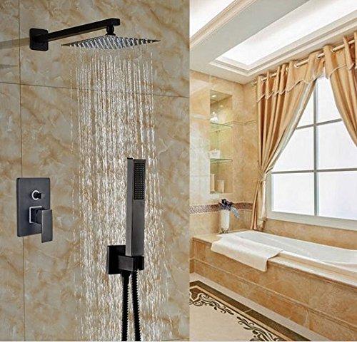 GOWE Bath Rainfall 12-in Ultrathin Shower Head +Handheld Oil Rubbed Bronze Shower Set by Gowe