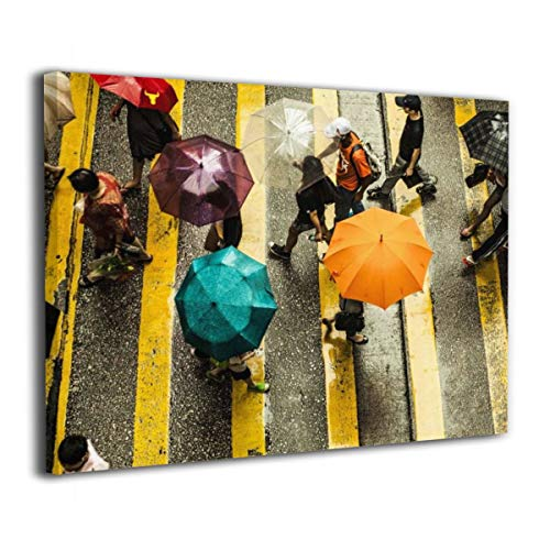 LxeSer Best Things To Do In Hong Kong On A Rainy Day Canvas Wall Art Wall Decor Pictures For Bathroom Office Stretched And Framed 20