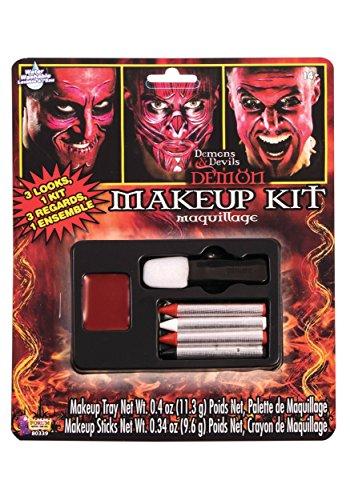 Halloween Lady Devil Makeup (Forum Novelties 80339 Demons and Devil Make Up Kit, Standard,)