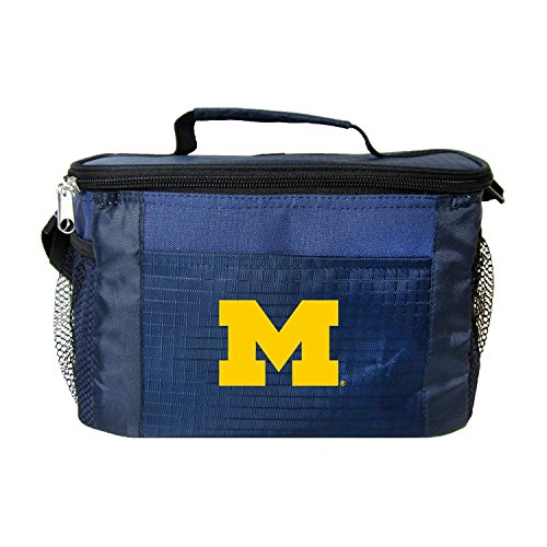 New NCAA College 2014 Team Color Logo 6 Pack Lunch Tote Bag Cooler - Pick Team (Michigan ()