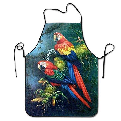 Tropical Rainforest Parrots Cooking Aprons Kitchen Aprons Chef Apron Bbq (Parrot Aprons)