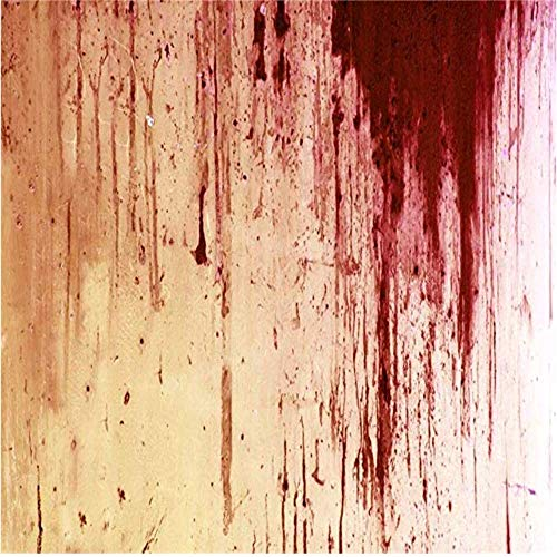 LFEEY 9x9ft Bloody Halloween Party Background Cloth Lousy Repulsive Red Blood-Stained Grunge Wall Photography Backdrop Vinyl Hallowmas Decoration Photo Studio Prop]()
