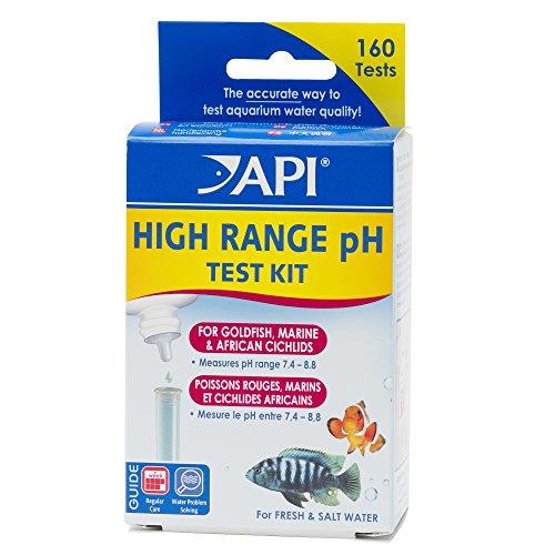 Image of API HIGH RANGE PH TEST KIT 160-Test Freshwater and Saltwater Aquarium Water Test Kit