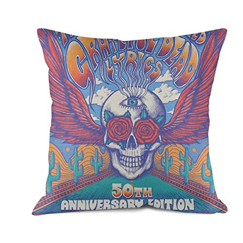 LiJinya The-Complete-annotated-Grateful-Dead-Lyrics- Sofa Cushion Pillowcases Pillow Cover Throw Pillows Covers (Annotated Cases)