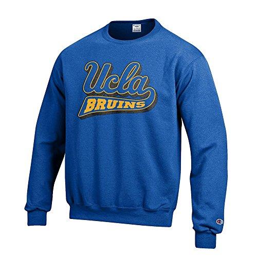 Elite Fan Shop NCAA UCLA Bruins Male Crew Sweatshirt Team Icon Touchdown, UCLA Bruins Light Grey Heather, Large