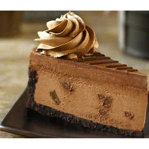 The Dream Factory 10 inch Godiva Double Chocolate Cheesecake, 80 Ounce -- 2 per case.