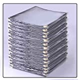 Chimaera 30-Pcs. Letter Size 8.5'' x 11'' Clear Transparent Restaurant Menu Holders 6-View Tri-Fold Leatherette Trim Gold Corners (Black Trim)
