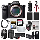 Sony Alpha A7S II 4K Wi-Fi Digital Camera Body with Sony VG-C2EM Grip + 64GB Card + Backpack + Flash + Battery & Charger + Flex Tripod + Kit For Sale