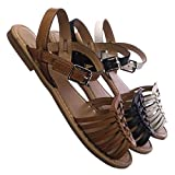 Woven Fisherman Huarache Flat Sandal, Women Open Toe Shoes