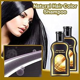 200ml Permanent Black Hair Shampoo Natural Ginger Coloring For Men Women (200ml, multicolor)