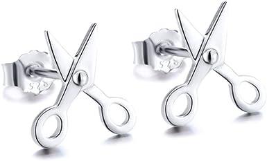 925 sterling silver ear studs little scissor earring silver studs earring new