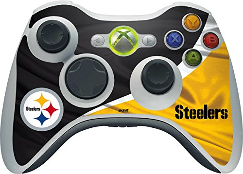 Skinit NFL Pittsburgh Steelers Xbox 360 Wireless Controller Skin - Pittsburgh Steelers Design - Ultra Thin, Lightweight Vinyl Decal Protection (Xbox 360 Official Nfl)