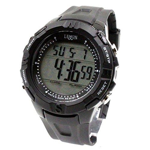 DEDW451B Schwarzes Uhr-Kasten-Datum BackLight Schwarzes Anzeigetafel-Wasser-Widerstand-Mann-Digitaluhr