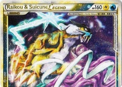 RAIKOU /& SUICUNE HAUT LEGENDE 92//95 CARTE POKEMON