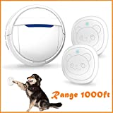 Snewvie Dog Door Bell Wireless Touch, Smart Doggie Doorbell for Potty Training, IP55 Waterproof Touch Button Pet Doggy Door Bell, Pet Dog Training Doorbells Include 2 Transmitters and 1 Receiver