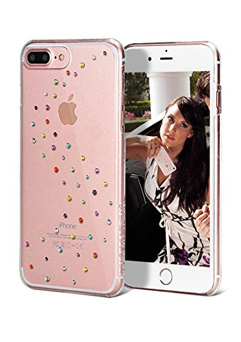 iPhone 8 Plus & 7 Plus Case | Bling My Thing Ultra Clear Sleek Drop Protection Slim Clip-on Cover w/ Swarovski Crystals - Cotton Candy | Original Exclusive Retail Packaging (Cl Cotton)