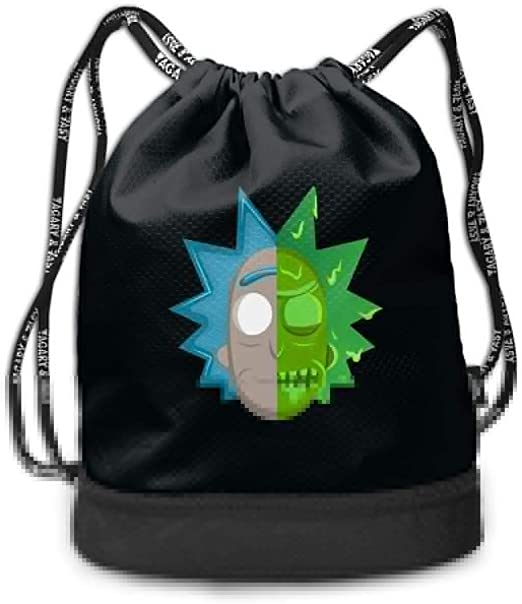 DIDhsswuz Rick N Morty Unisex Drawstring Backpack Drawstring Bag Bundle Backpack Yoga Bag