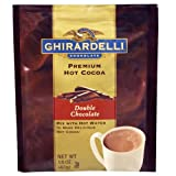 Ghirardelli Chocolate Double Chocolate Cocoa Packets, Water Soluble, 1.5 oz. each