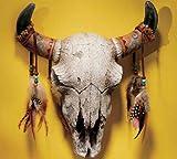 Western Wildlife Buffalo Skull Wall Sculpture Statue Inspired By Southwest Art (Xoticbrands)