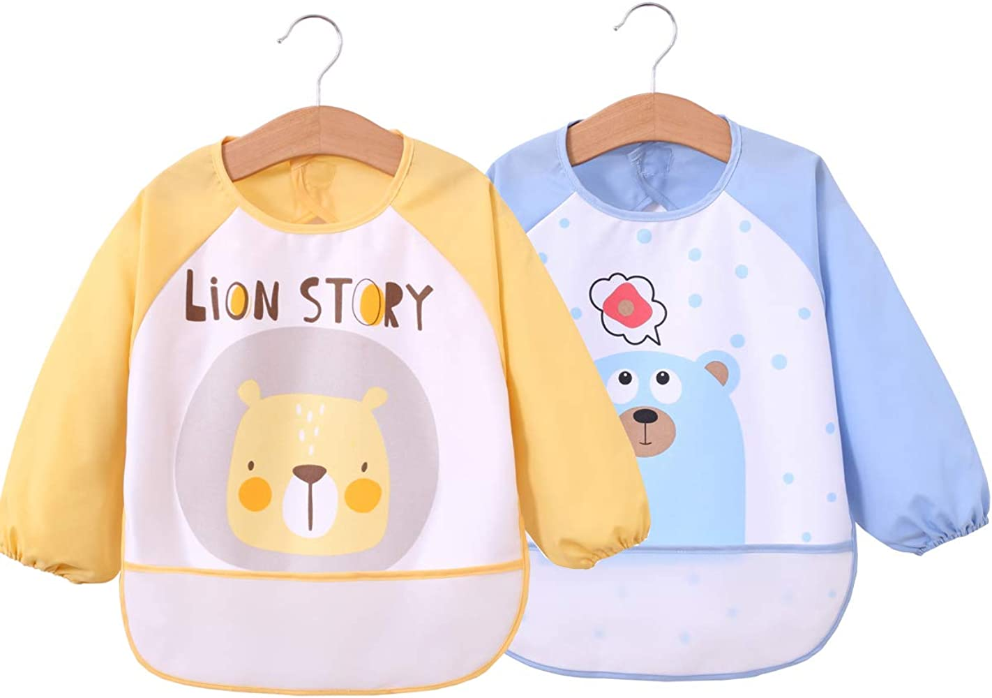 baby bib  for Infant Toddler Baby bib Waterproof bib Sleeved Bib long