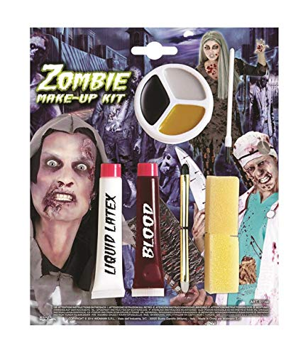 MA ONLINE Girls Boys Book Day Zombie Face Paints Make Up Kit Body Paints Childrens Fancy Dress Party Face Paintings Accessory One Size