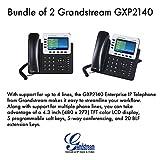 Grandstream GXP2140 4-Line IP Phone, 4.3 LCD, PoE, Bluetooth. Bundle of 2