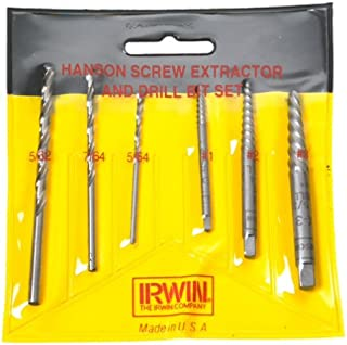 product image for Irwin Industrial Tools 53700 Spiral Extractor and HSS Drill Bit Pouched Set, 6-Piece