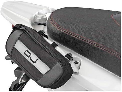 Business Bolso OJ M099 Bolso para FIJACI/ÓN AL Manillar Compatible con Piaggio MP3 LT 500 i.e Asas Marco Y AL Estante con Cinturones Ajustables UNIVERSALES Moto Scooter 24X9X5CM